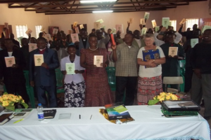 Participants in Kibondo with their books