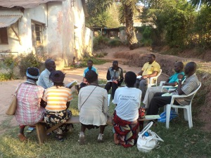 A group in Kalemie, Diocese of Katanga
