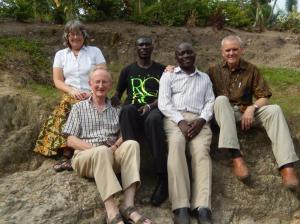 Peter Silverwood (R) and the S Rwenzori team