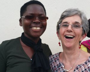 Team member Hilary with translator Alice