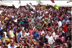 RinJ Junior children at the children's gospel crusade, Kasese