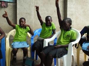 Members of the RinJ Junior group in Bondo